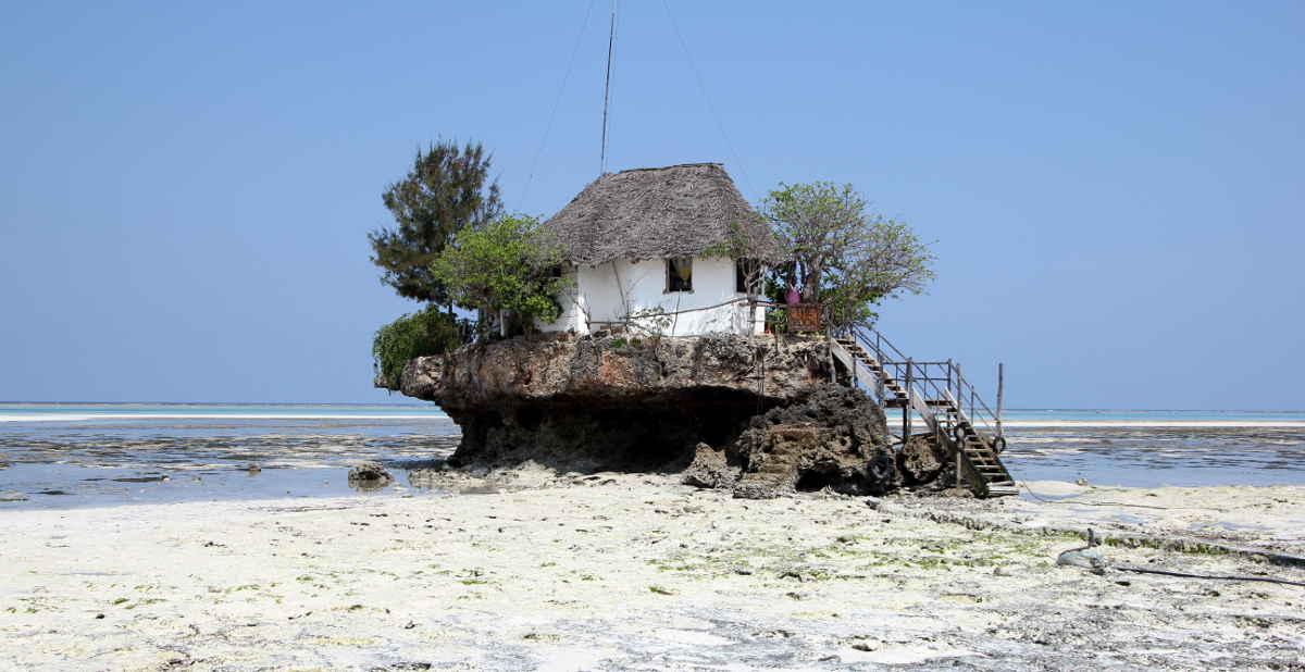 Zanzibar hus på stranden